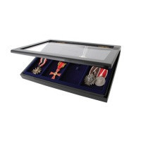 Vitrína na odznaky a medaile pins i jehlové